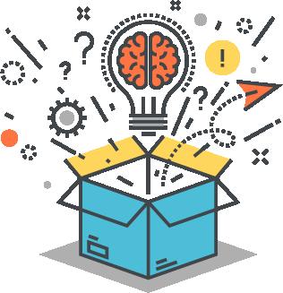 image depicting thinking outside th ebox