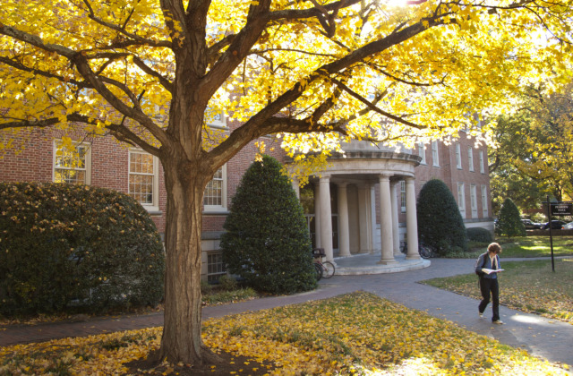 Peabody Hall in the fall