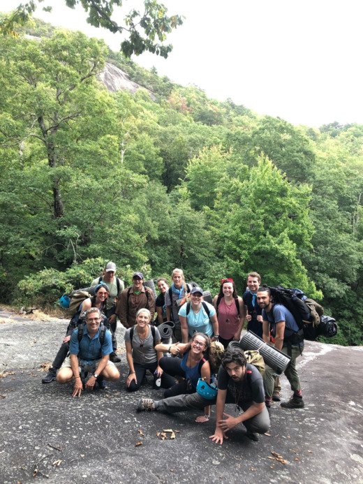 Experiential education: MAT students on a hike in the North Carolina mountains