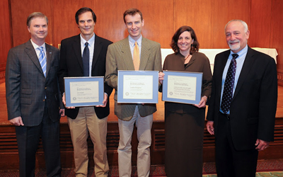 Steve Knotek, associate professor of school psychology and early childhood education (second from left),