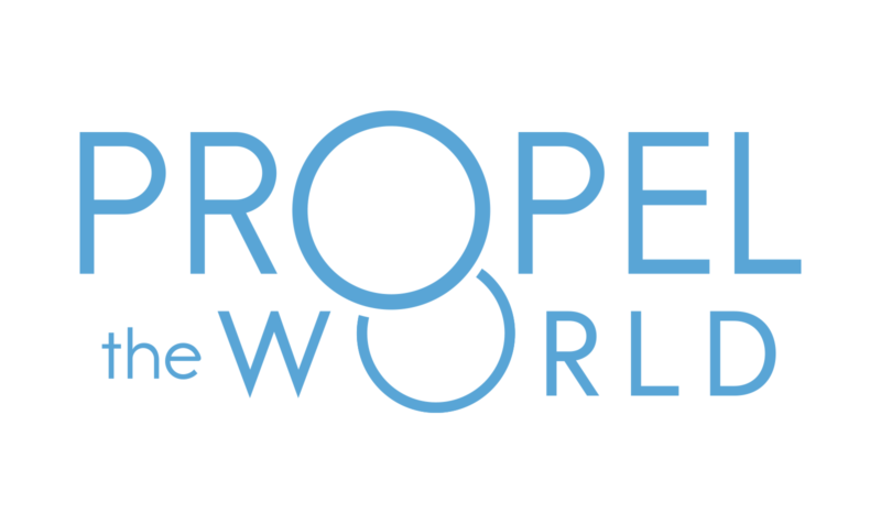 propel the world logotype