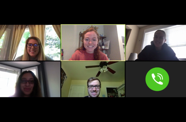 Zoom meeting with graduate teaching fellow and students