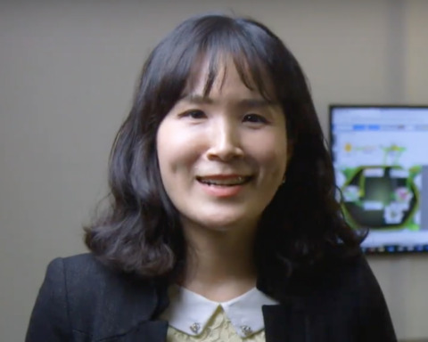 Faculty member Kelly Ryoo frame from Propel the World video