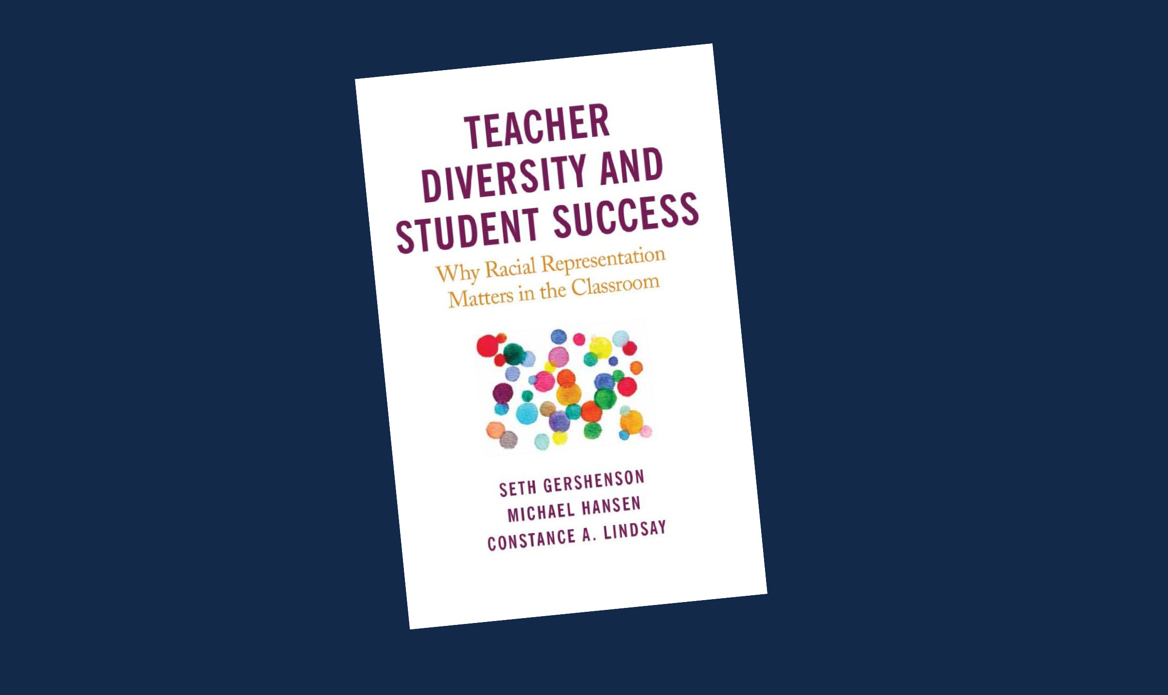 Cover of book Teacher Diversity and Student Success